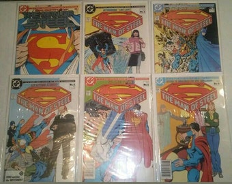 Superman The Man of Steel 6 comic book mini series (DC Comics)