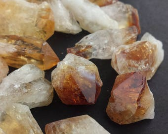 CITRINE CRYSTALS 1/4 Lb Lots Natural Mineral Gold Yellow Crystal Points