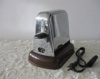 Kwik Way Toaster Chrome Flip Side Double Door Electric Toaster U.S.A.