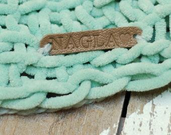 Personalisierte handgemachte Etiketten-Set von 10 / / Branding Tags für handgemachte / / Branding Borte / / Leder Patches / / Handwerk Label Tag