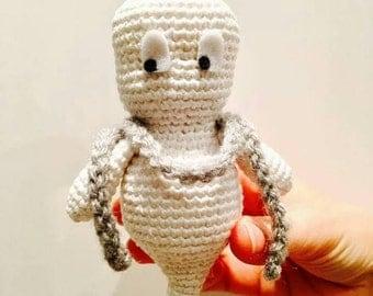 Ghost, ghost toy, stuffed ghost, ghost white casper, monster doll, ghost doll crochet amigurumi plush crochet, crochet ghost
