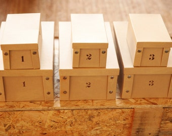 storage boxes, Cardboard boxes, Boxes organization, Room organization, Decorated boxes, home organization, Set of 3 boxes, ,rustic BOXES