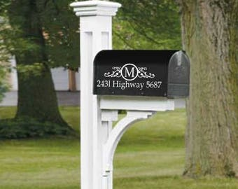 Mailbox Decal Personalized Street Address Decal Scroll Mailbox Decal Christmas Gift Spring Home Improvement Mailbox Address Curb Appeal DIY