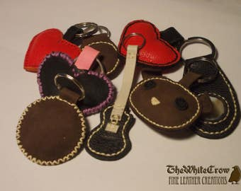 Cute bouncy stuffed leather keychains