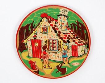 Vintage puzzle-wooden puzzle of Hansel and Gretel-Simplex