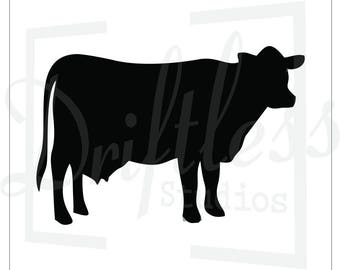 Cattle Stencil 2, Cow Stencil, Steer Stencil, Farm Stencil, Reusable Stencils, Wall Stencil, Farm House Style