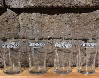6 Vintage Guinness Pint Glasses | Vintage Tulip Shaped Pint Guinness Draught Pints | Vintage Pint Glasses | Irish Beer Glasses | Beer Glass