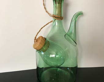 Vintage wine decanter with ice compartment * price reduced