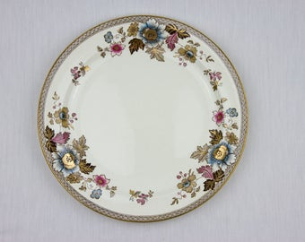 Antique Wedgwood / 3 X Antique Wedgwood Plates /  Flower Design Plates / 1890s