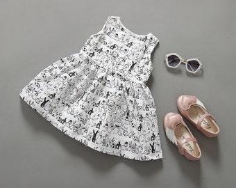 bunny baby girls infantil pattern printed dresses