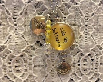 Chin Up Buttercup Charm Necklace/Encouragement Jewelry/Encouragement Necklace/Encouragement Pendant/Chin Up Buttercup Pendant/Inspirational