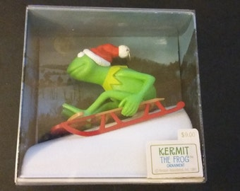 New in Box - 1981 KERMIT THE FROG Hallmark Ornament - Muppets - QX4242