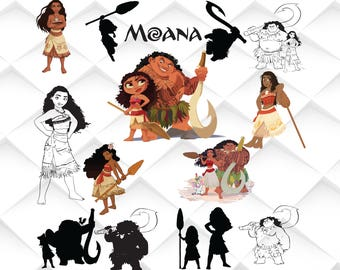Moana svg,eps,png,jpg for Print/ Silhouette Cameo/Cricut and Many More