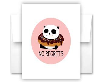No Regrets Notecard