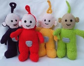 Teletubbies Hand Knitted Toys Teletubby Knitted Dolls Soft Toys TV Character Toys