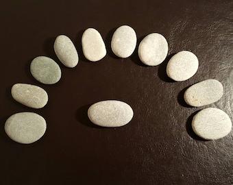 10 Small/Medium Flat Stones, Craft Pebbles, Flat Rocks, Grey Pebbles, Sea Stones, Irish Beach Stones, Jewelry Supplies, Jewelry Pebbles