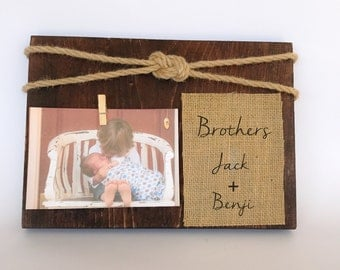brothers picture frame gift personalized brothers frame personalized picture frame