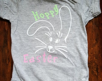 Hoppy Easter Baby Onsie
