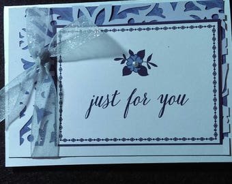 "Blank ""Just for you "" card and envelope"