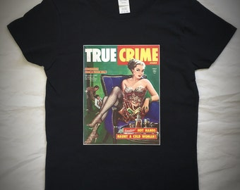 True Crime T-shirt with vintage graphic