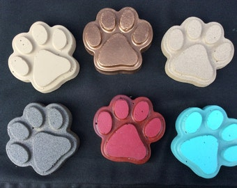 Extra Small Concrete Paw Step Stone/Paper Weight