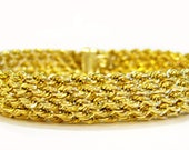 14K Gold Rope Chain Brace...
