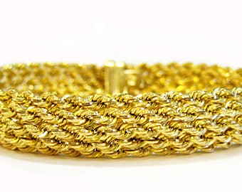 14K Gold Rope Chain Bracelet - X4078