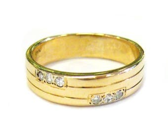 14K Men's Diamond Band