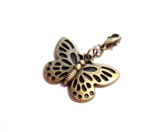 Charm Butterfly silver- or bronze