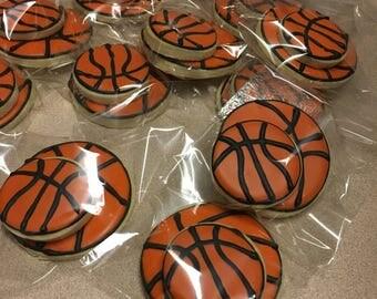 Custom Cookies :) Basketballs!