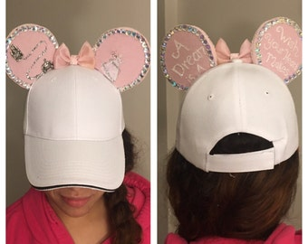 Cinderella inspired ears hat / Minnie Mouse inspired ears hat / Mickey Mouse inspired ears hat/ sparkley ears hat