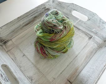 Sock yarn hand dyed your heart's colorful 100 g cotton
