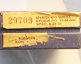 Boxed Complete Spanish War Service Medal Northern Stamping Contract