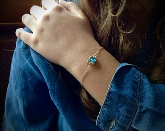 Light Blue Druzy Bracelet