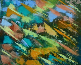 3 bears. original acrylic painting. abstract painting