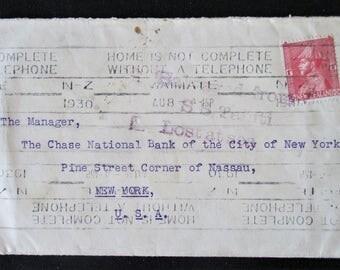 1930 Lost At Sea Envelope Rare Original Vintage