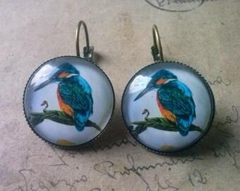 Ice bird earring ~ bronze ~.