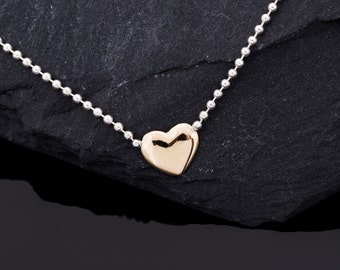 Listen to my golden heart! Necklace with heart from 750ER Gold//Valentine's Day gift//Love statement//Gifts for women//Love