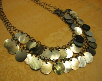 Mother of Pearl 2 Strand Necklace