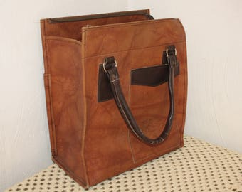 "Large handbag / bag leather vintage ""french Country FRANCE"" sale / Discount"