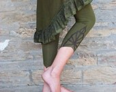 Boho Leggings, Psy pants for her, Unique leggings, Funky pants, Fairy style, Goa wear for women, Pixie fashion, Festival clothing, Legwear