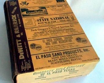 1963 EL PASO TEXAS City Directory Hudspeth's