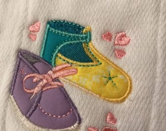 Baby Shoes Burp Cloth