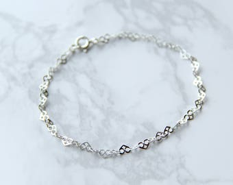 sterling silver heart links bracelet