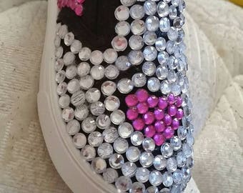 Heart bling shoes