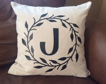 Family personalized MONOGRAM pillow cover