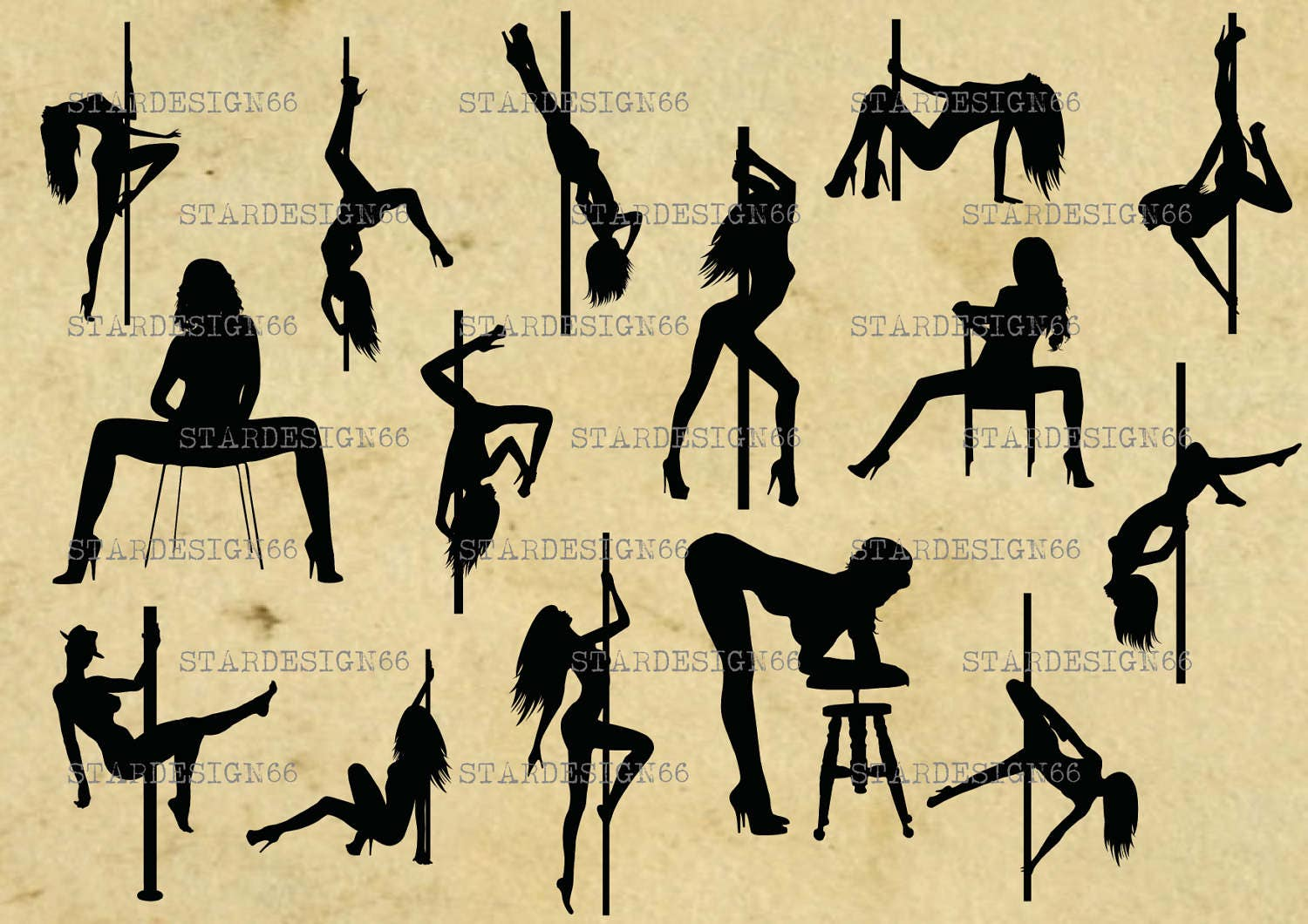 This is a digital file. Digital SVG PNG JPG Strippers  pole dancers  sexy chick  sexy