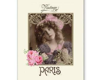 Personalised Handmade Greetings Card ~ Vintage Postcard of A Child  #5