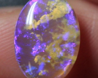 Gorgeous Clouds in the Sky Purple Opal