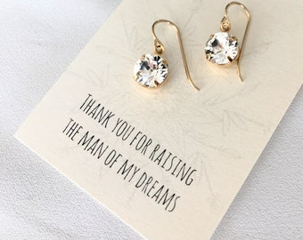 Mother of the Groom Gift - Bridesmaid Proposal - Bridesmaid Jewelry - Wedding Jewelry - Bridal Earrings - Swarovski Crystal Dangle Earrings